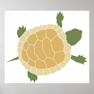 Cute Crawling Little Turtle Tortoise Print