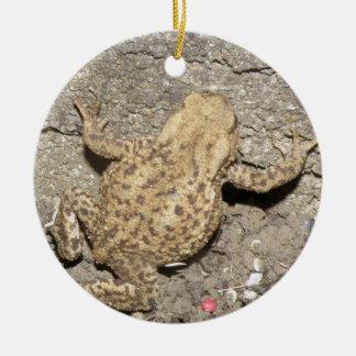 Cute Crawling Toad Custom Birthday Round Ceramic Decoration