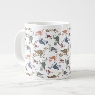 Cute Crazy Bird Pattern - Bird Watcher s Funny Extra Large Mugs