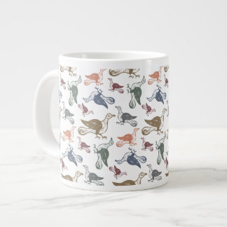 Cute Crazy Bird Pattern - Bird Watcher's Funny Extra Large Mugs