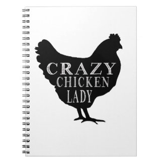Cute Crazy Chicken Lady Notebook