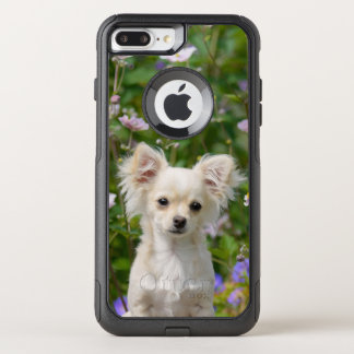 Cute cream Chihuahua Dog Puppy Pet Photo - on OtterBox Commuter iPhone 7 Plus Case