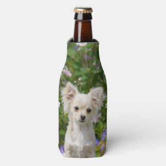 Cute cream Chihuahua Dog Puppy Photo Bottle-Jacket