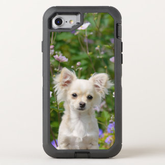 Cute cream Chihuahua Dog Puppy Photo Phone-protect OtterBox Defender iPhone 8/7 Case