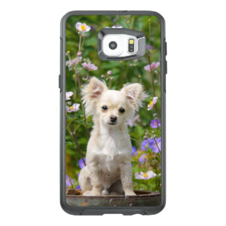 Cute cream Chihuahua Dog Puppy Photo - protection OtterBox Samsung Galaxy S6 Edge Plus Case