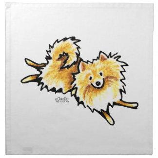 Cute Cream Pomeranian Napkin