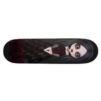 Cute & Creepy Little Goth Girl Black Skateboard