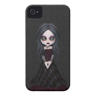 Cute & Creepy Little Goth Girl BlackBerry Bold iPhone 4 Case-Mate Case