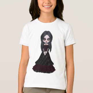 Cute & Creepy Little Goth Girl T-Shirt