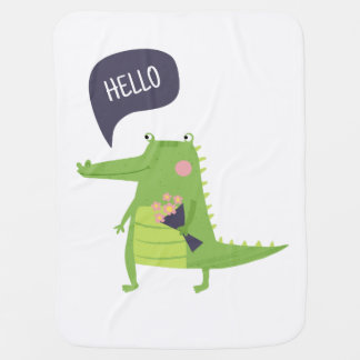 Cute crocodile baby blanket