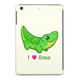 Cute crocodile love kawaii cartoon iPad mini cover
