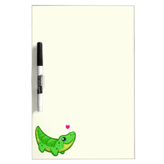 Cute crocodile love kawaii cartoon kids Dry-Erase whiteboards