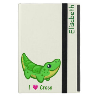 Cute crocodile love kawaii cartoon kids iPad mini cases