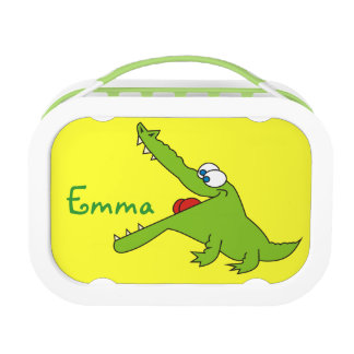 Cute Crocodile Personalized Name Kids Lunchbox