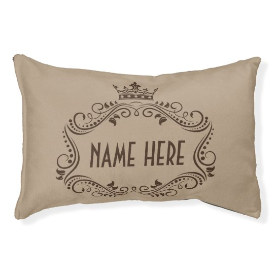 Cute Crown Personalised Dog Pillow Bed