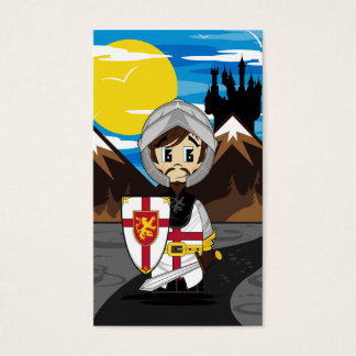 Cute Crusader Knight Bookmark Business Card