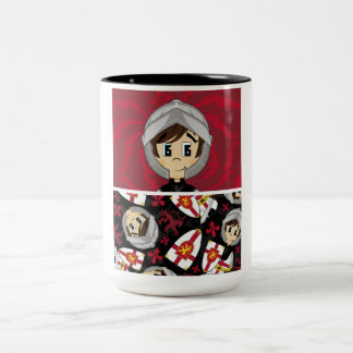 Cute Crusader Knight Coffee Cup Two-Tone Mug