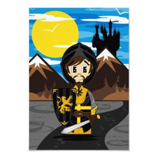 Cute Crusader Knight RSVP Card 9 Cm X 13 Cm Invitation Card