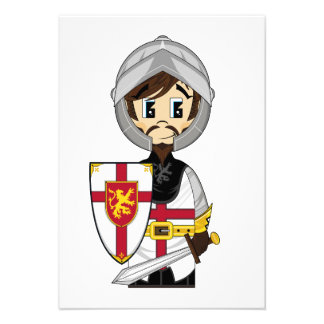 Cute Crusader Knight RSVP Card Announcements