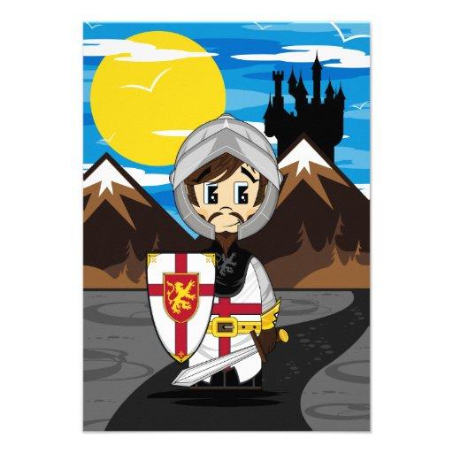 Cute Crusader Knight RSVP Card Invitations