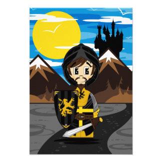 Cute Crusader Knight RSVP Card Invite