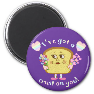Cute Crust on You Valentine's Day Pun 6 Cm Round Magnet