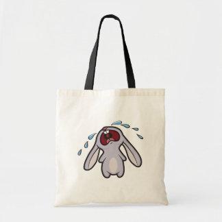 Cute Crying Rabbit | Bawling Bunny Tote Bag