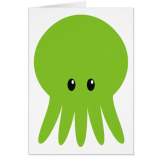 Cute Cthulhu Card