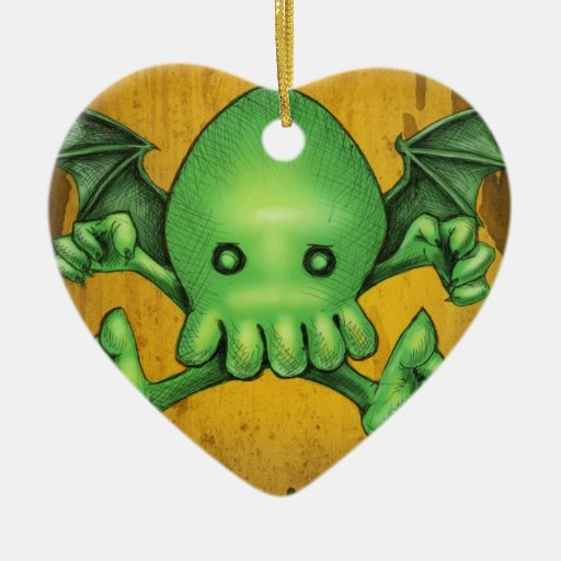 Cute Cthulhu Chibi Kneel Before Me Christmas Tree Ornaments