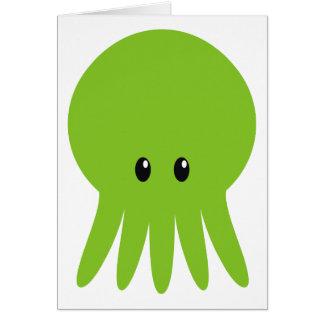 Cute Cthulhu Greeting Card