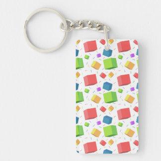 Cute Cubes Rectangular Acrylic Keychains