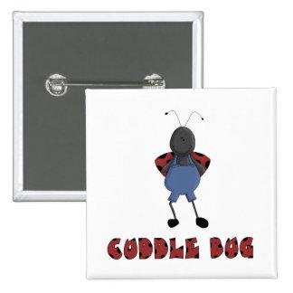 cute cuddle bug ladybug character 15 cm square badge