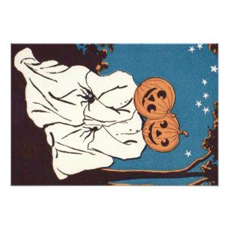 Cute Cuddle Pumpkin Jack O' Lantern Ghost Photo