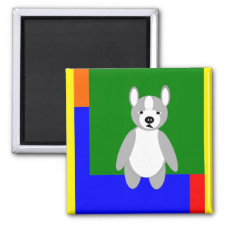 Cute cuddly and Lovable Boston Terriers Square Magnet