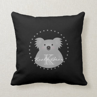 Cute Cuddly Australia Baby Koala Bear Monogram Cushion