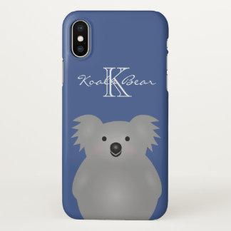 Cute Cuddly Australia Baby Koala Bear Monogram iPhone X Case