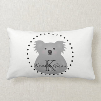 Cute Cuddly Australia Baby Koala Bear Monogram Lumbar Cushion