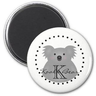 Cute Cuddly Australia Baby Koala Bear Monogram Magnet