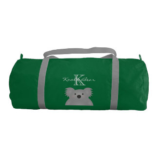 Cute Cuddly Australian Baby Koala Bear Monogram Gym Bag