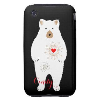 Cute Cuddly Big Teddy Bear Design Tough iPhone 3 Cover