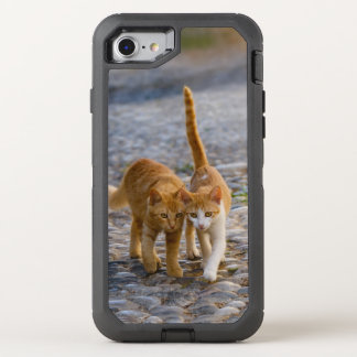 Cute Cuddly Cat Kittens Friends Stony Path Photo _ OtterBox Defender iPhone 8/7 Case