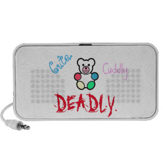Cute. Cuddly. Deadly. Laptop Speakers