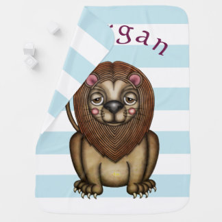"Cute, Cuddly ""King Of The Jungle"" Baby Blanket"