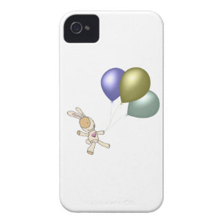 Cute Cuddly Toy and Balloons Art Case-Mate iPhone 4 Cases