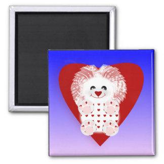 Cute cuddly Valentine Lion Magnet