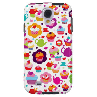 Cute cup cake and tea pot galaxy s4 case