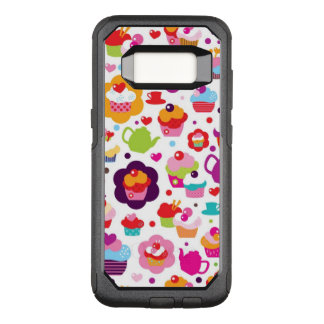 Cute cup cake and tea pot OtterBox commuter samsung galaxy s8 case