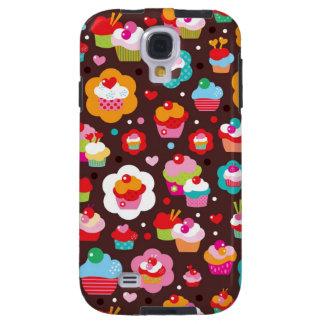 Cute Cup Cake Pattern Galaxy S4 Case