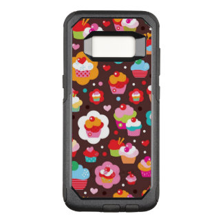 Cute Cup Cake Pattern OtterBox Commuter Samsung Galaxy S8 Case