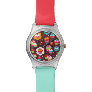 Cute Cup Cake Pattern Watches